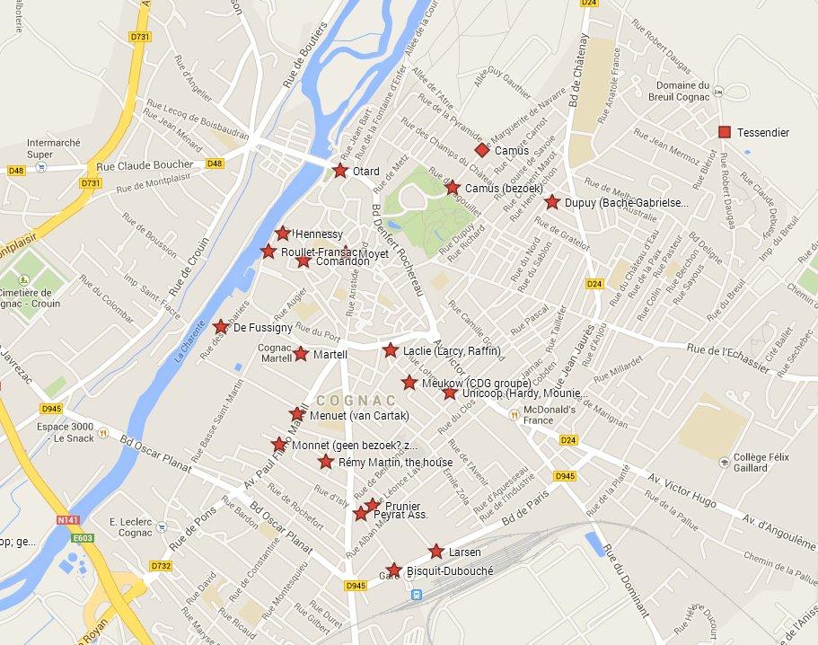 Map of city of Cognac - Cognacton english