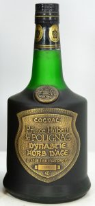 This old bottle of Hubert de Polignac is called Dynastie