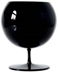 Glas van zwart kristal, 12cm high