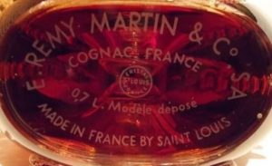 Louis XIII bottle made by Saint Louis; volume stated too.