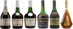 Evolution of Bisquit VSOP-bottles through the decennia