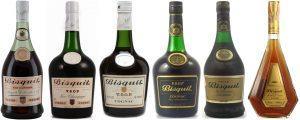 Evolution of Bisquit VSOP-bottles through the decennia