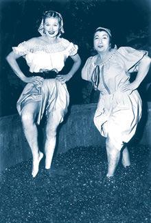 Lucille Ball, druiven persen