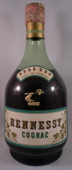 Bras d'Or, Grande Fine Champagne; and a paper duty seal on top