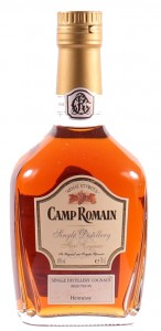 Single distillery 1998, Camp Romain; different text in rectangular label