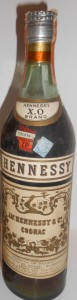 on neck: Hennessy brand; New York import (Schieffelin); 1946