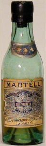 with a cork; Martell printed on top of main label