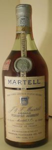 Very Fine liqueur cognac brandy; US import by Browne Vintners (1955-60)