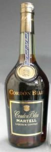 Dark label; liqueur cognac, no content or ABV stated