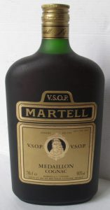 full bottle, 70cl; with 'VSOP' above 'Martell'