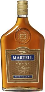 50 cl, 'fine cognac' in blue fully within the contours of the label