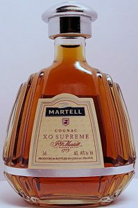 XO Supreme, 5cl small, letters in red