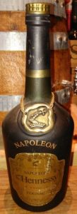 Napoleon on the shoulder (without accent), Bras d'Or in small letters. 70cl stated on the back; Portugese import