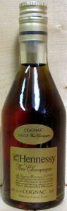 on shoulder label, first line: Cognac; second line: VSOP Fine Champagne; 50ml stated
