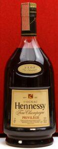 1.5L VSOP privilege; fine champagne on shoulder label. More text below 'privilege'.