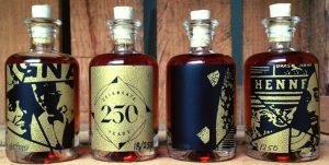 Four of the 250 unique samples that were given away; designed by Shon Price at the 250th anniversary (2015)