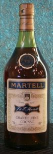 Very special cognac on shoulder emblem