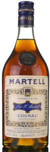 Almost same as previous bottle, but here 'cognac' is printed below the stars in the shoulder blob. (1970s)