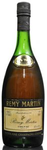 Petite Fine champagne VS on neck label; Produce of France stated top left and 70 proof top right; bottom right: 24 fl oz, 68.2cl (1970s)