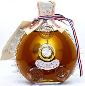 'Bean shaped label; 'Louis XIII Brand in red