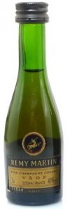 brown-yellow label, clear green glass; screw cap