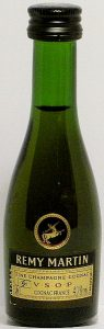 yellow label, clear green glass; screw cap; mark left of VSOP