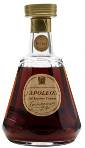 With old liquor cognac on it; no content or alcohol percentage stated