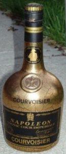 Underneath; Courvoisier in big capitals
