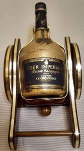 Courvoisier in smaller letters underneath and Cour Imperial on top