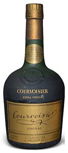 Content stated in fl.oz and with the Courvoisier address underneath