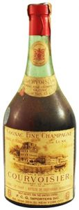 Cognac Fine Champagne de Luxe, 50 years old; with additional textline above the emblem on the neck label