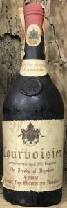 Cognac Grande Fine Champagne Napoleon; on bottom of label text left and right (left: appellation controlee)