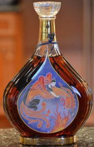 Distillation, 75cl; five different back-sides, first one imported by Taylor & Company