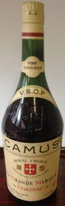 On neck label is ' written 'Fine Cognac' in stead of 'Fine Champagne' (1960s)