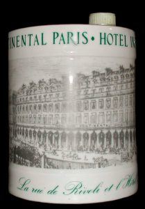 Hotel Intercontinental Paris 1878-1978. Napoleon cognac. Haviland Limoges. (1978)