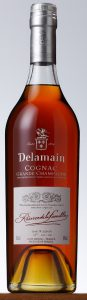 "New type label; under the embleme it says: ""This very old unblended Grande Champagne Cognac comes from a single cask"""
