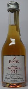 5cl Frapin Chateau Fontpinot XO; with the feather emblem; low shoulder and a paper seal on top