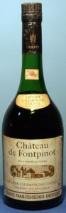 Chateau de Fontpinot, grande champagne; Frapin named on the cap; Französisches Erzeugnis, 40° and 70cl stated