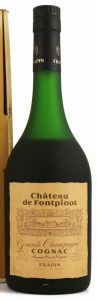 Chateau de Fontpinot, grande champagne; Frapin named on the label and on the cap; 40%vol and 70cl stated