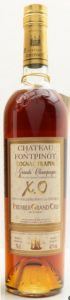 Chateau Fontpinot, XO, Tres Vieille Reserve du Chateau; with Premier Grand Cru stated; different colour cap and different emblem on the cap; letters in gold and red; 70cl