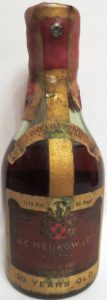 1/10 pint cordon d'or; 84 proof; with Produce of France stated; slightly different font