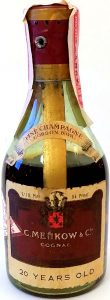 Cordon d'Or 20 years old; 1/10 pint; 84 proof