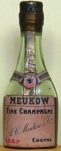 VSOP fine champagne; longer label (space underneath VSOP Cognac)