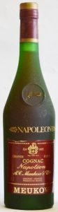 70cl stated; 'napoleon' on he label has more colour; the emblem in the blob has come off