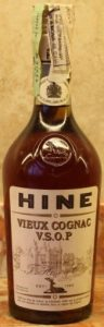 VSOP vieux cognac; paillarde like shape; 70cl, with a paper seal on top