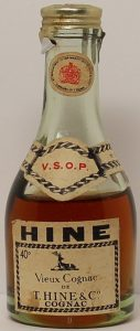 5cl VSOP with 40% in top left, with additional neck label (coat of arms)
