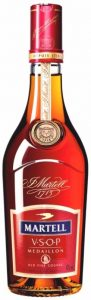 3L with a thickening at the base of the cap; comes with a cradle; for 300 years Martell (click to see it)