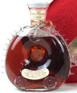 Louis XIII Brand 4/5 quart Rarest Reserve 80 Proof (1970s); Renfield importers; red octagonal box, 1970s