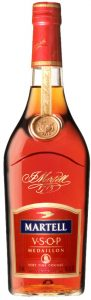 750ml very fine cognac, red cap, small medaillon