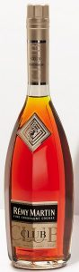 With CLUB vertical on the neck and a grey label; 70cl e stated; below CLUB isstated: 'A.O.C. Fine Champagne Cognac'